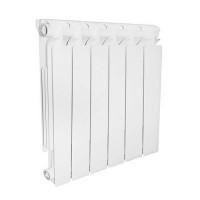 Радиатор алюминиевый секционный STOUT Bravo 350 - 8 секций (цвет белый)