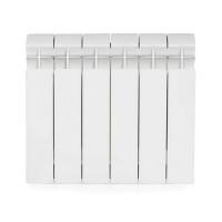 Радиатор биметаллический секционный GLOBAL STYLE PLUS 350 - 6 секций (цвет белый)
