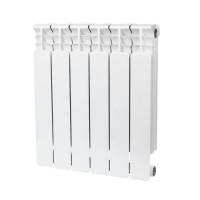 Радиатор биметаллический секционный STOUT Space 500 - 6 секций (подключение боковое)