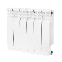 Радиатор биметаллический секционный STOUT Space 350 - 6 секций (подключение боковое)