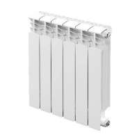 Радиатор биметаллический секционный STOUT Space 500 - 5 секций (подключение нижнее правое)