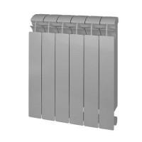 Радиатор биметаллический секционный GLOBAL STYLE PLUS 500 - 6 секций (цвет серый)