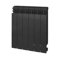 Радиатор биметаллический секционный GLOBAL STYLE PLUS 500 - 6 секций (цвет черный)