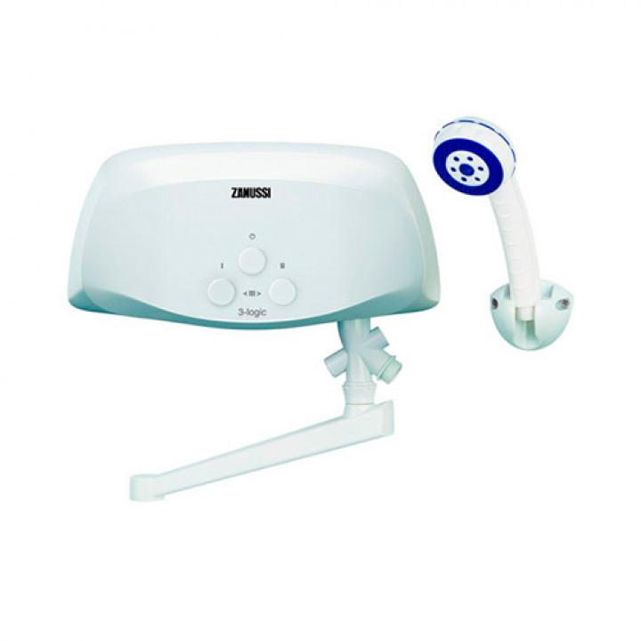 Водонагреватель электрический проточный Zanussi 3-logic - 6,5 TS (с изливом и душевой лейкой)