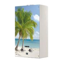 Водонагреватель газовый проточный Zanussi Fonte Glass GWH 10 (с изображением морского пейзажа)