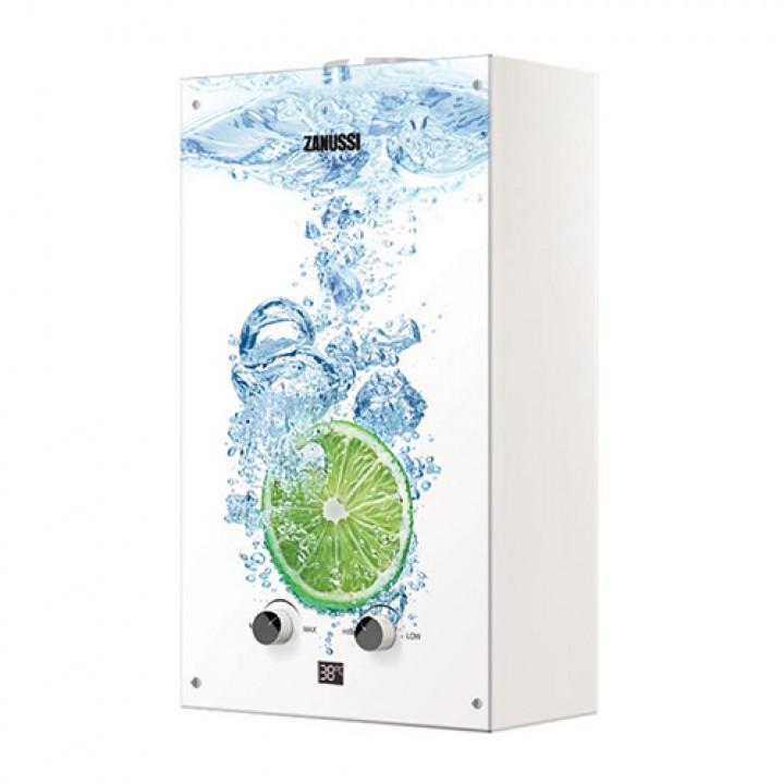 Водонагреватель газовый проточный Zanussi Fonte Glass GWH 10 (с изображением лайма)