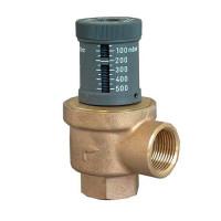 Клапан перепускной Oventrop - Ду25 (PN10, 120°C, настройка 50-500 мбар, бронза/латунь)