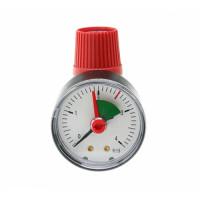 """Клапан предохранительный STOUT - 1/2"""", сброс 3/4"""" (ВР/ВР, Tmax 110°C, Рн 2.5 бар, с манометром)"""