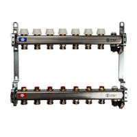 """Коллекторная группа для отопления STOUT SMS0932 - 1"""" на 7 контуров 3/4""""EK (нерж.сталь)"""