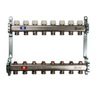 """Коллекторная группа для отопления STOUT SMS0922 - 1"""" на 8 контуров 3/4""""EK (нерж.сталь)"""