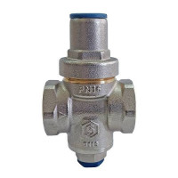 """Регулятор давления поршневой STOUT - 3/4"""" (ВР/ВР, PN16, Tmax 130°С, EPDM, с выходом для манометра)"""