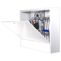 Шкаф распределительный наружный STOUT - 651x550x180 мм (с внутренней дверцей)