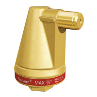 """Воздухоотводчик автоматический Meibes Flexvent MAX - 3/4"""" (PN25, воздухоотвод сверху, латунь)"""