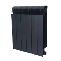 Радиатор алюминиевый секционный GLOBAL VOX R 500 - 5 секций (цвет черный)