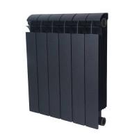 Радиатор алюминиевый секционный GLOBAL VOX R 500 - 6 секций (цвет черный)